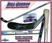 BILL GUERIN Signed TEAM USA 2004 WORLD CUP Game Used Stick SYNERGY w/COA