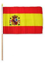 "12x18 12""x18"" Spain Stick Flag wood Staff (Super Polyester)"