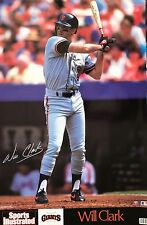WILL CLARK SAN FRANCISCO GIANTS 1989 SPORTS ILLUSTRATED POSTER
