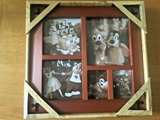More details for disney parks - cherry wood multi-photo frame c/w mickey mouse design - bn - 2