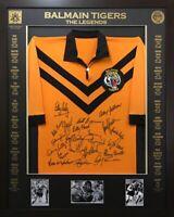 Blazed In Glory - Balmain Legends - NRL Signed & Framed Jersey