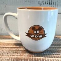 Disney Parks WDW Est 1971 Large Coffee Mug White & Orange Mickey Head Retro