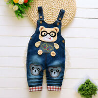 Toddler Kids Baby Girls Boys Child Clothes Denim Pants Overalls Jeans Jumpsuits