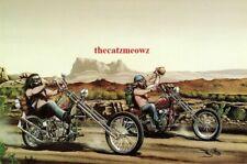 David Mann Art Motorcycle Poster Desert Run Biker Print