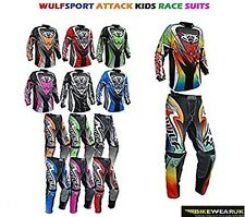 WULFSPORT KIDS ATTACK JERSEY PANT MOTOCROSS QUAD BIKE RACE SUIT 2017 ALL COLORS