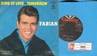 Fabian - King Of Love/Tomorrow Vinyl 45 rpm record PS Free Ship