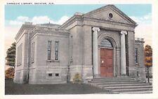 Alabama postcard Decatur Carnegie Library