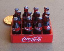 1:12 Plastic Coca Cola Crate & Bottles Dolls House Miniature Bar Coke Accessory