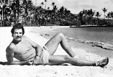 Magnum P.I. Poster, On the Beach, Tom Selleck, Private Investigator, 1980's