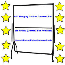 5⭐6ft HEAVY DUTY GARMENT CLOTHES RAIL HOME STORAGE HANGING RACK MARKET DISPLAY