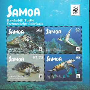 "SAMOA - 2016 MNH ""WWF Hawksbill TURTLE"" Mini Souvenir Sheet !!"