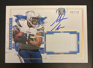 2020 Impeccable ANTONIO GATES Auto Patch Extravagance Gold #d /10 Chargers