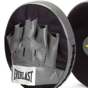 Everlast EverFresh Target Strike Pad Mitts Punch Pad Boxing MMA Gloves Sparring