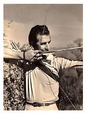 """1943 Howard Hill 11""""x8 1/2"""" Reproduction Photograph - archery - hunting - B&W"""