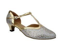 Women's West Coast Swing Salsa Ballroom Dance Shoes low Heel 1.3 Very Fine 9627