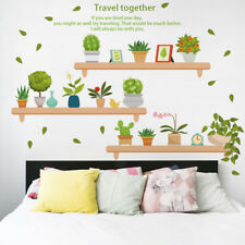 Live with Green Plants Fashion Wall Stickers For living room/Kitchen Home Decor