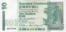 Hongkong / Hong Kong Standard Chartered Bank 10 Dollars 1993 Pick 284a UNC