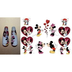 Waterslide Nail Decal Stickers Mickey Mouse Minnie Mouse Disney Inspired