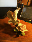 Andrea by Sadek White Dove with Pink Rose Decorative Bird Collection Figurine Wi