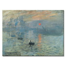 Canvas Print Monet Painting Repro Pictures Wall Art Home Decor Sunrise Poster