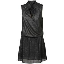 FORNARINA Elodie Dress Short Elegant Embossed Floral Black Evening Cocktail