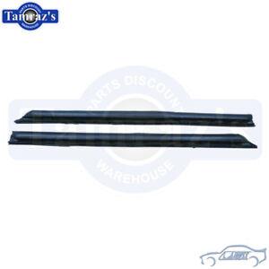64-65 GM A Body Quarter Window Glass Weatherstrip Seals W Steel Inserts OE Style