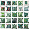 Tropical Plant Floral Leaves Pillow Case Cotton Cushion Cover Car Home Decor AU