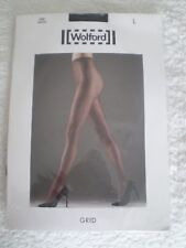 Wolford Tights Grid Black Net Tights Fine Grid Structure L 16 - 18 E 44 - 46 New