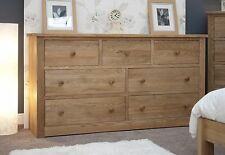 Ohio chest of drawers large wide solid oak bedroom furniture