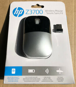 BRAND NEW SEALED OEM HP Z3700 Silver Slim Wireless Mouse PC Mac FAST SHIPPING