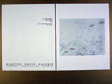 1989 Cy Twombly 'Mars & Venus' Koln art gallery vintage print Ad