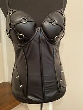 Black Faux Leather Punk Corset