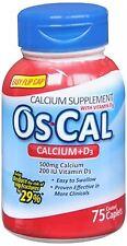 Os-Cal 500+D Caplets 75 Caplets