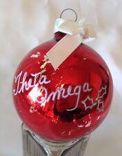 Theta Omega Ornament Christmas Holiday 1985 Red Tree Greek Life Vintage Gift