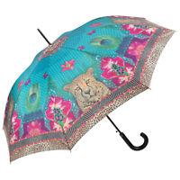 Regenschirm Stockschirm Automatik Raubkatze Motiv bunt Nitsche Longing Leopard
