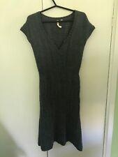 White Stuff Grey Knit Jumper Dress Tunic Size 10