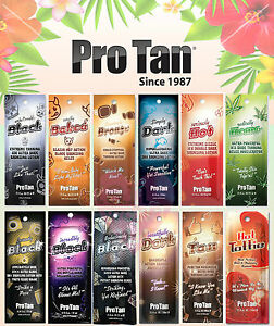 Pro Tan Tanning Bed Lotion Sachets Natural Accelerators, Bronzers & Hot Tingle