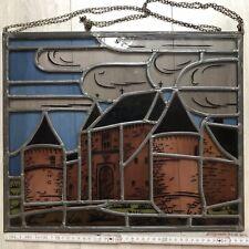 Glasbild Fensterbild Burg