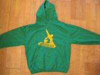 Snowboard ski hoodie Christina size M/10 green yellow