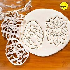 Gaia Earth Goddess & Green Man cookie cutters - nature celtic pagan mythology
