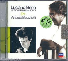 Luciano Berio. Musica per Pianoforte. Andrea Bacchetti (2004) CD NUOVO SIGILLATO
