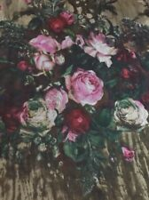 100% Silk Chiffon Scarf | Chemo / Neck Heritage Roses 🇦🇺 Crafted 53x132cm