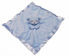 Baby Boys Teddy Bear Comfort Blanket Soft Toy Comforter Blue