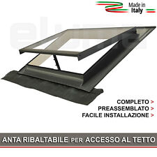 Lucernario / Finestra per tetto - BASIC VASISTAS 55x45 (Vetro Temperato)