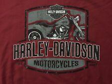 Harley Davidson Punch Out Maroon Shirt NWT Men's XXL