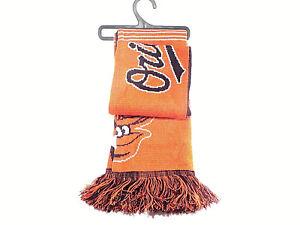 Orioles Scarf  Baltimore MLB Orange/Black w/Fringe Winter 5 1/2' Long Unisex NWT