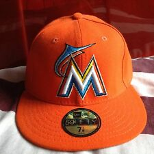 New Era GENUINE Miami Marlins MLB cap size 7 1/8  RARE BRAND NEW