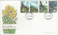 Fdc 3/21/79 Leicester, British Flowers
