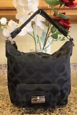 Coach Kristin Black Op Art Sateen Hobo Bag #14753 (pu700