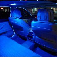 DC Blue Car LED EL Wire Cold Light Glow Interior Flexible Atmosphere Decor Lamp
